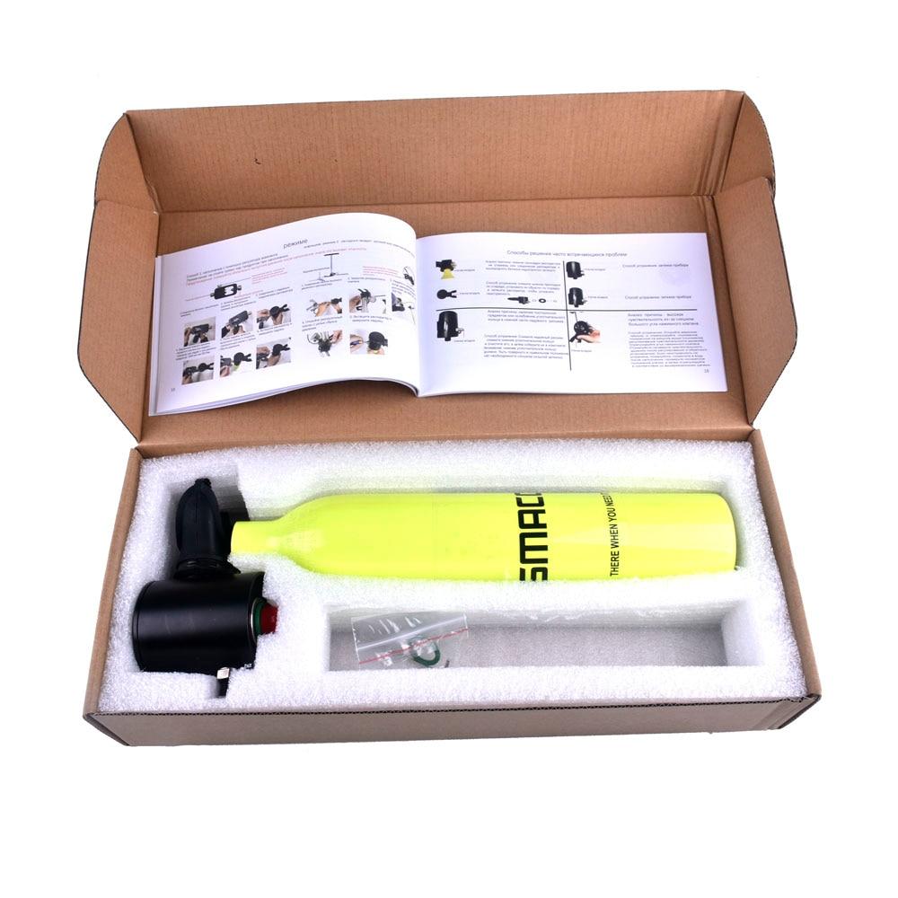 Mini réservoir d'oxygène de plongée sous-marine respirateur respiratoire bouteille d'oxygène équipement de natation adulte - 6
