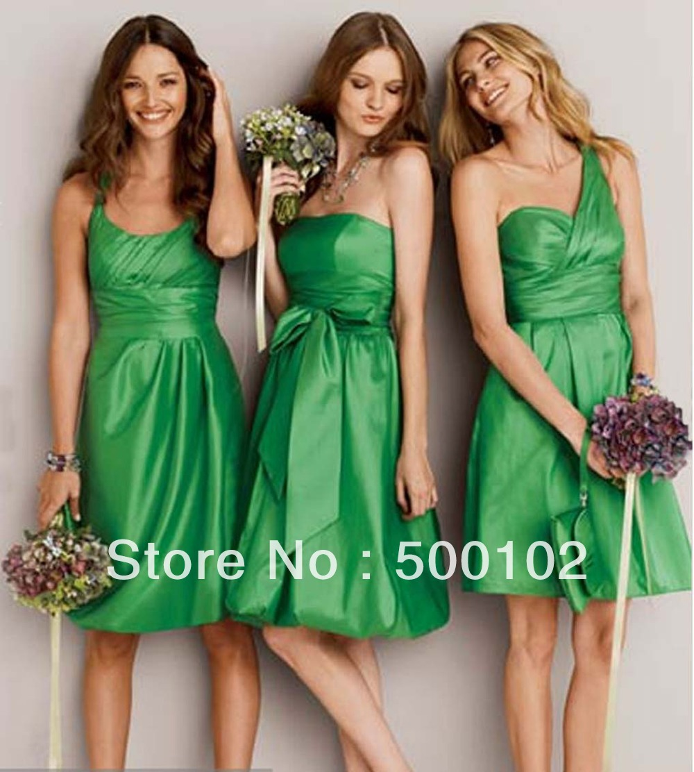Knee length western dresses reviews online shopping knee length green sheath mixed style taffeta knee length western bridesmaid dresses ombrellifo Images