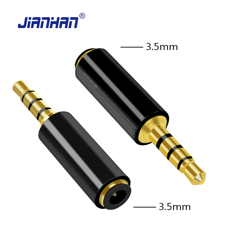 CTIA to OMTP Audio Adapter 3.5mm to 3.5mm Male Female Stereo 4 pole Converter 24K Gold Plated Connector for Iphone HTC Samsung strength training