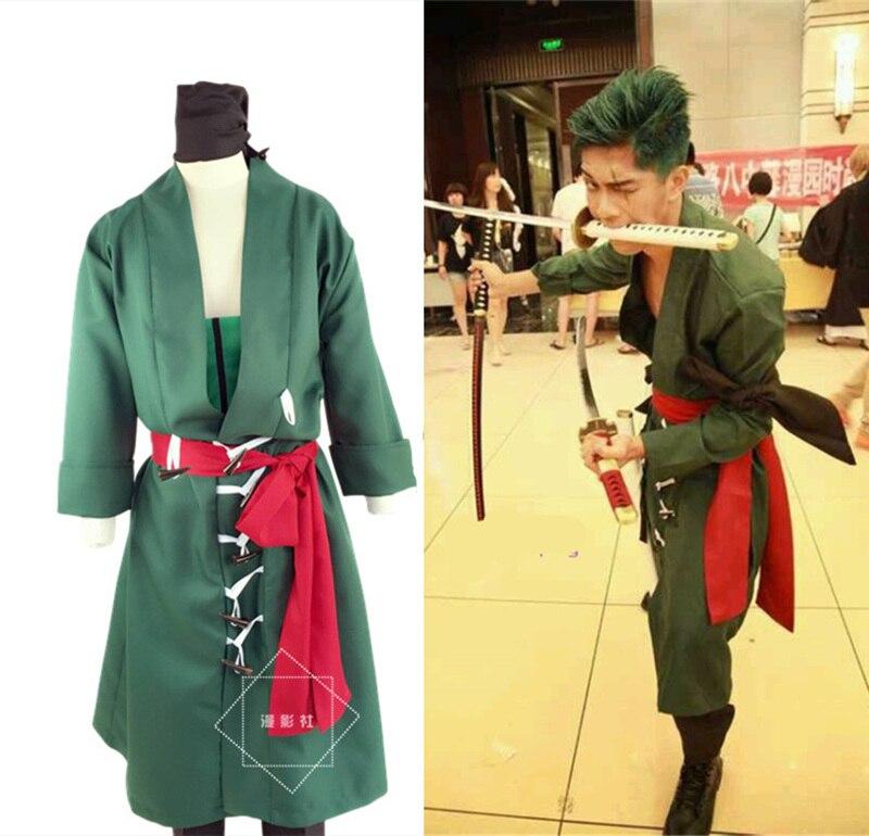 Japonés Anime una pieza RORONOA ZORO II traje cómico papel jugar Cosplay traje conjunto envío gratis