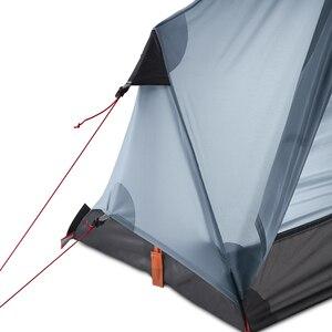 Image 4 - 3F UL הילוך Oudoor Ultralight קמפינג אוהל 1 אדם מקצועי 15D ניילון סיליקון Rodless קל אוהל קמפינג ציוד