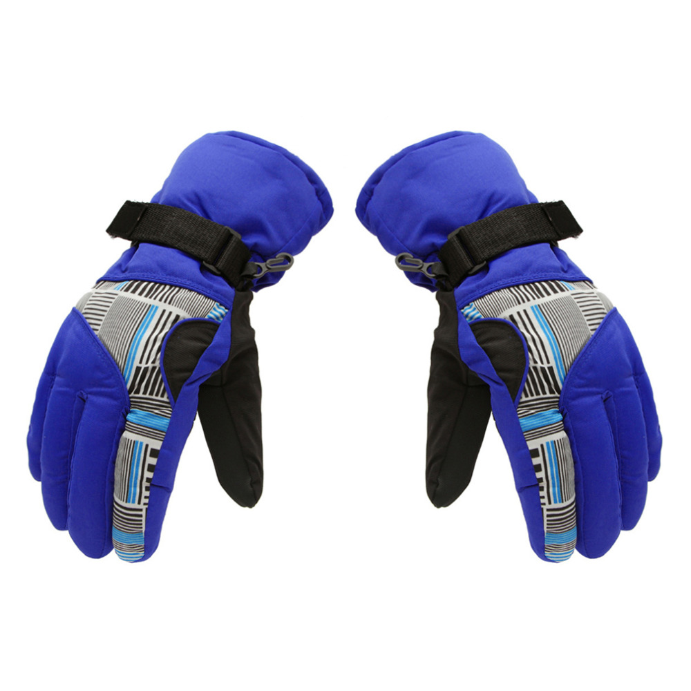 1 Pair Nylon Gloves Men Winter Bump Thickening Mountaineering Ski Gloves Outdoor Sports