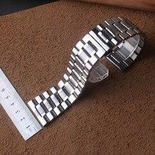 22 мм 24 мм 26 мм 28 мм 30 мм соединитель из нержавеющей стали серебряные полированные часы ремешок Браслеты Бабочка Пряжка набор большой размер