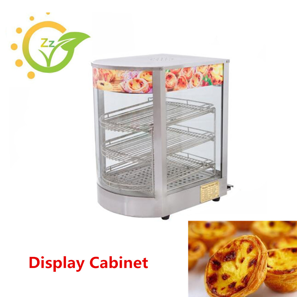 220V Commercial Display Cabinet Electric Stainless Steel Hot Display Showcase for Cake Egg Tart Bread chiller unit for supermarket display cabinet showcase island freezers supermarket refrigerator freezer commercial deep freezer