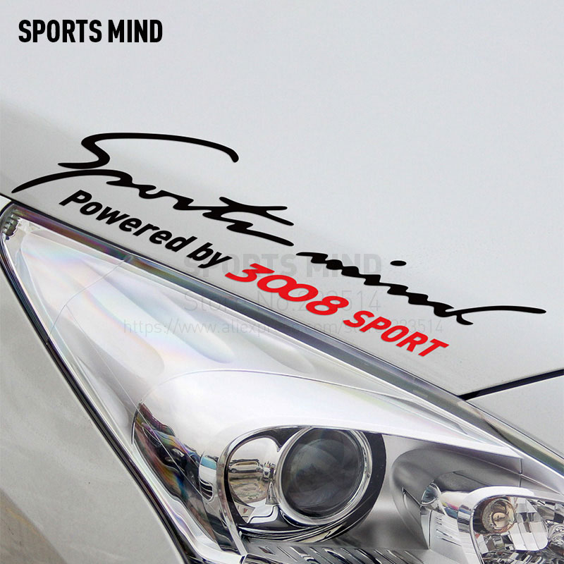 2 Pieces Sports Mind Car Styling On Car Lamp Eyebrow automobiles & motorcycles Car Sticker Decal For Peugeot 3008 accessories