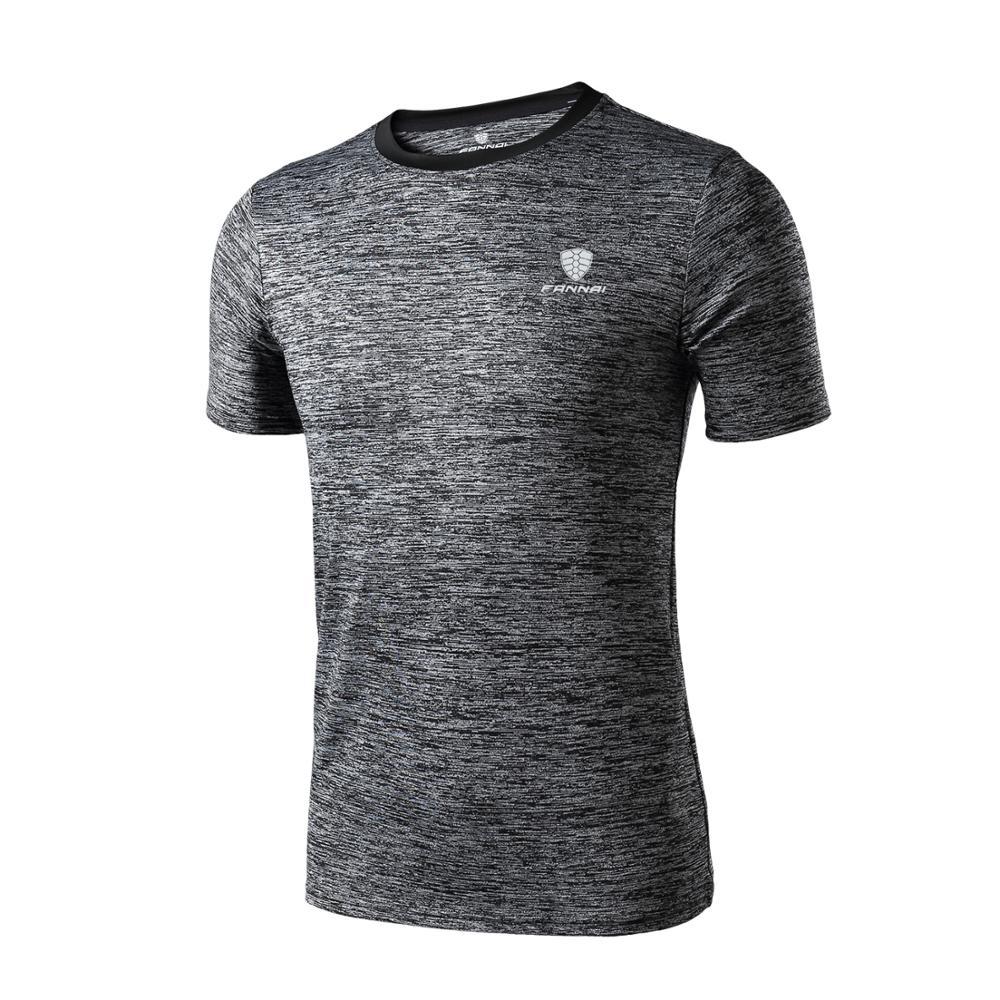 FANNAI Running T-Shirt Sportswear Fitness Gym Men Quick-Dry Casual Funny Hot Man Top