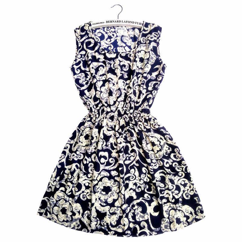 CDJLFH 여성 의류 블랙 2018 여름 섹시한 드레스 여성 파티 해변 Kawaii 쉬폰 드레스 캐주얼 Sundresses Femme 플러스 크기