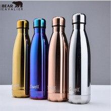 Oleaje 500 ml termo vacío Ampliación cofre taza deportes botella de agua botella termo hervidor botella de galvanoplastia