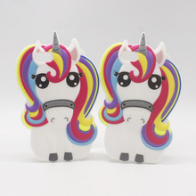 Hot New 3D Cartoon Unicorn Pony Horse Soft Silicone Phone Cases Cover For iPhone 7 7Plus 4 4G 4S 5 5G 5S SE 6 6G 6S Plus 6Plus