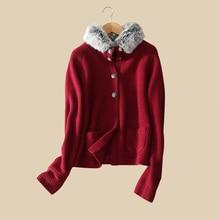 100 real cashmere coats raccoon fur nagymaros collar full sleeve zipper pockets autumn winter knitting ope