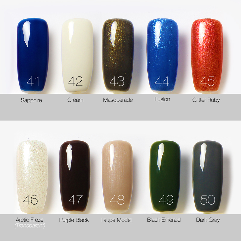 Sapphire Nail Gel 30 Colors Optional UV Gel Polish Nail Polish 7.3 ...