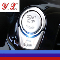 High Quality Chrome For BMW Start Stop Button Interior Trim Decorative Covers Sticker For BMW F10