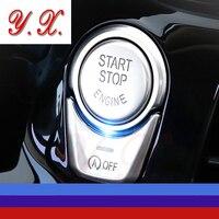 High Quality Chrome For BMW Start Stop Button Interior Trim Decorative Covers Sticker For BMW F10