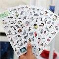 D33 Venta Caliente Llegada de Nuevo PVC lindo papelería Corea regalo kawaii gato blanco y negro decorativo transparente pegatinas álbumes