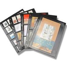 10 шт./лот, штампы, линии, сетка, прозрачный ПВХ, страницы, штампы, альбом, вкладыши, держатели марок, не включая обложку, PCCB