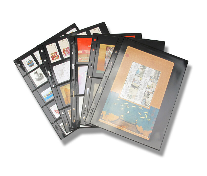 10PCS/Lot Stamps Lines Grid Transparent PVC Page Of Stamp Album Loose-leaf Inners Of Stamps Holders Not Including Cover PCCB