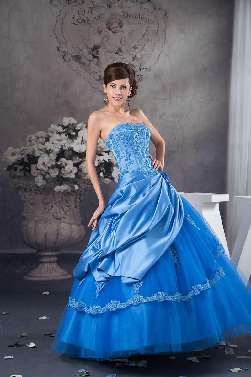 Blue Quinceanera Dresses 2019 Ball Gown Graduation Dresses Special Occasion Dresses Vestidos De 15 Anos Vestido Debutante Q4511