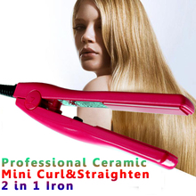 Professional Hair Straightener Ceramic Straightening&Curling 2 in