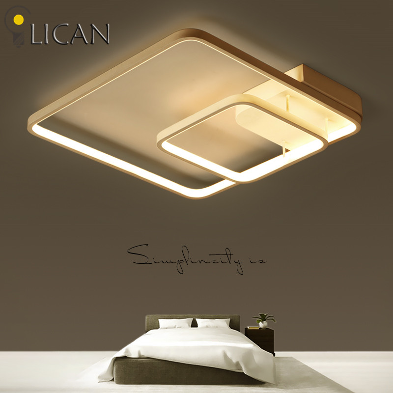 LICAN 2017 lustre de plafond moderne Square Ceiling Lights for living bed room home creative decor light modern ceiling lamp New cognac crystal square ceiling light fixtures abajur luminaria teto lustre de plafond for home led light e14 chandelier ceiling