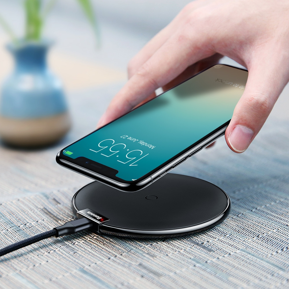baseus wireless fast charger for iphone 8 8 plus x. Black Bedroom Furniture Sets. Home Design Ideas