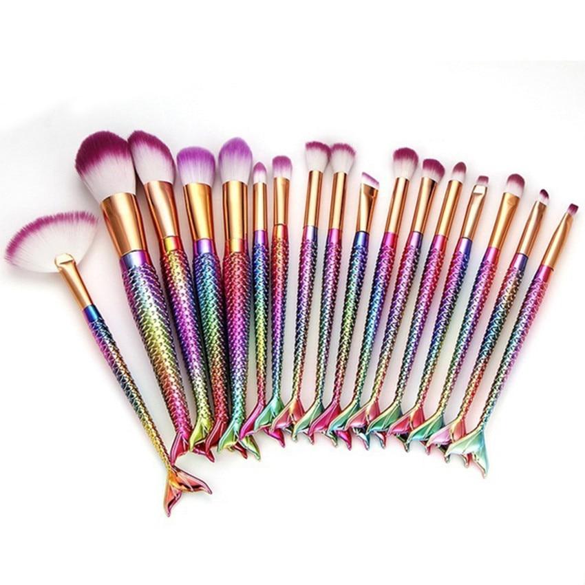 1PCSMakeup brush single mermaid gradient makeup brush Fony Make Up Foundation Eyebrow Eyeliner Blush Cosmetic Concealer Brushes