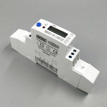 5 (45) a 45a 최대 220 v 230 v 50 hz 60 hz 전압 전류 단상 딘 레일 kwh 와트 시간 에너지 미터 rs485 MODBUS-RUT