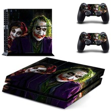PS4 Skin Sticker: The Joker Vinyl Design Skin for Playstation 4 Console and Two Controller Protective Cover Skins