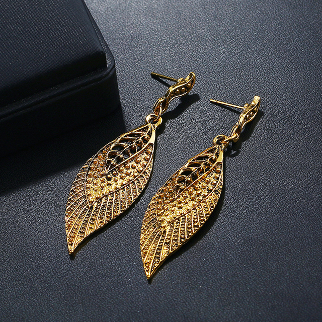 Fashion Leaves Drop Earrings For Women