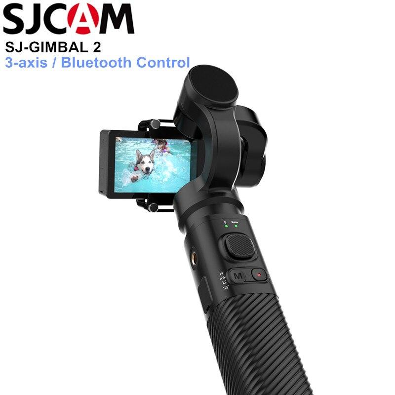 SJCAM SJ-GIMBAL 2 3-eixo Cardan Handheld Estabilizador de Controle Bluetooth para SJ6 SJ7 SJ8 Pro/Plus/Ar câmera ação Da Câmera para Yi