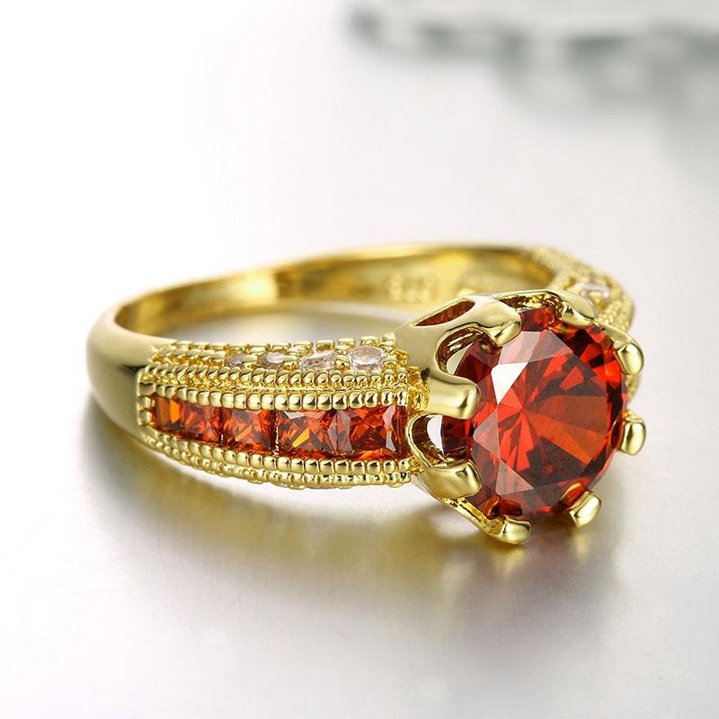 Cincin pertunangan, Cincin zirkonia kubik, Mewah merah perhiasan, - Perhiasan fashion - Foto 5