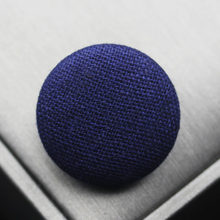 Free shipping 10pcs/lot navy blue Cotton and linen button wrap cloth buttons Chinese wind blazer coat buttons 15mm-38mm(China)