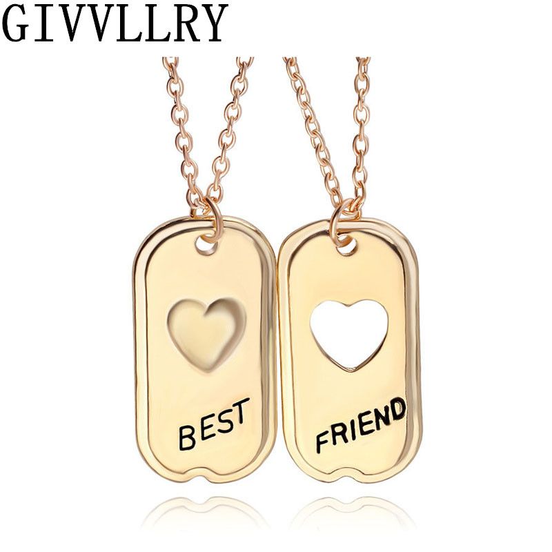 Superb Unique Gifts Family Part - 13: Unique Gifts Vintage Best Friends Heart Pendant Chain Necklaces For  Friendship Lover Family Gifts(China