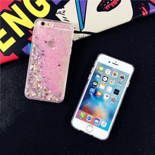 Hearts Glitter Dynamic Liquid Case For iPhone