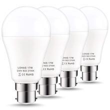 B22 Светодиодный лампы 150W эквивалент 17W светодиодный байонетный свет теплый белый 2700K супер яркий 1600LM энергосберегающий светильник, 4-Pack