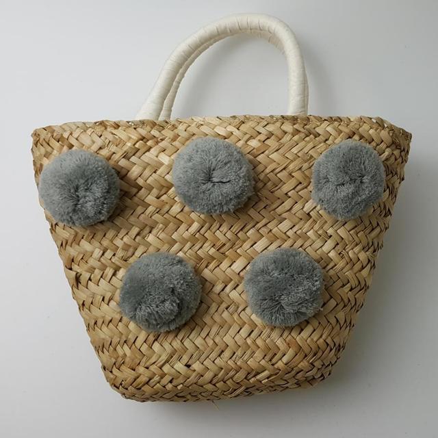 30*18cm 새로운 핸드백 머리 공 밀짚 가방 여름 휴가 여행 A2950