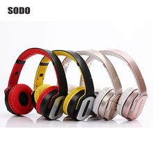 Wholesale High Quality Bluetooth Headphones and Speaker Foldable Sport Wireless Headset Portable Earphone For iPhone Xiaomi ipad Computer