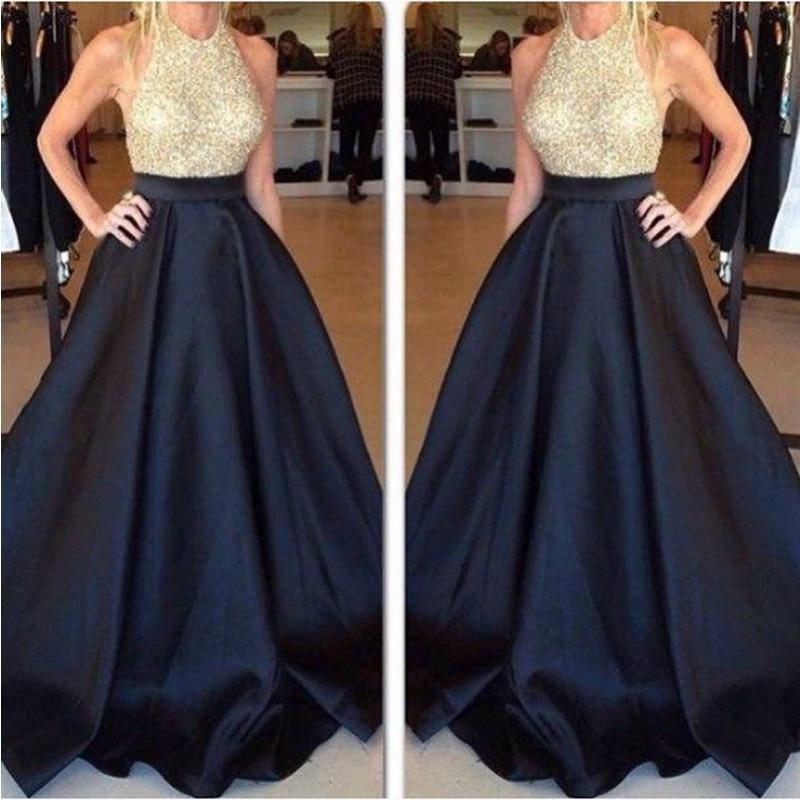 High Waist Long Prom Skirt Custom Made Black Pleated Satin Women Skirts Evening Party Gown Vintage Maxi Skirt Saia