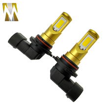 2pcs/lot High power super bright car fog light 9006 HB4 socket LED fog lamps H11 H8 H7 12V white yellow External Lights
