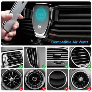 Image 4 - Qi Auto Veloce Caricatore Senza Fili Per iPhone 8 8 Più XS 7.5W 10W Caricabatteria Da Auto Senza Fili Per Samsung galaxy S8 S9 S10 Nota 9 Caricatore