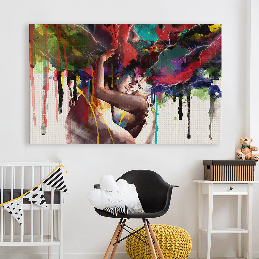 Hdartisan Abstract Oil Painting Print On Canvas Poster The