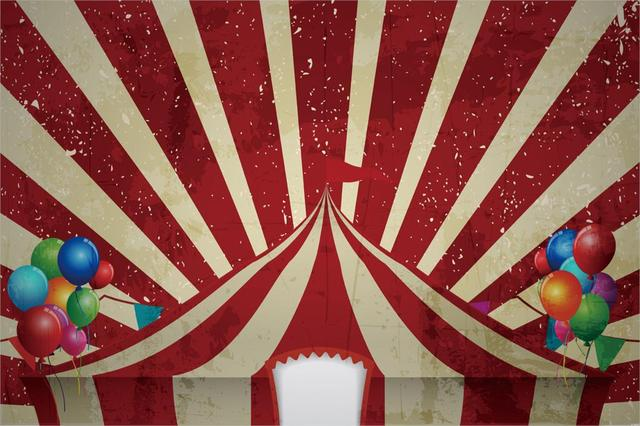 10mx6m circus photography backdrops carnival tent ballon background
