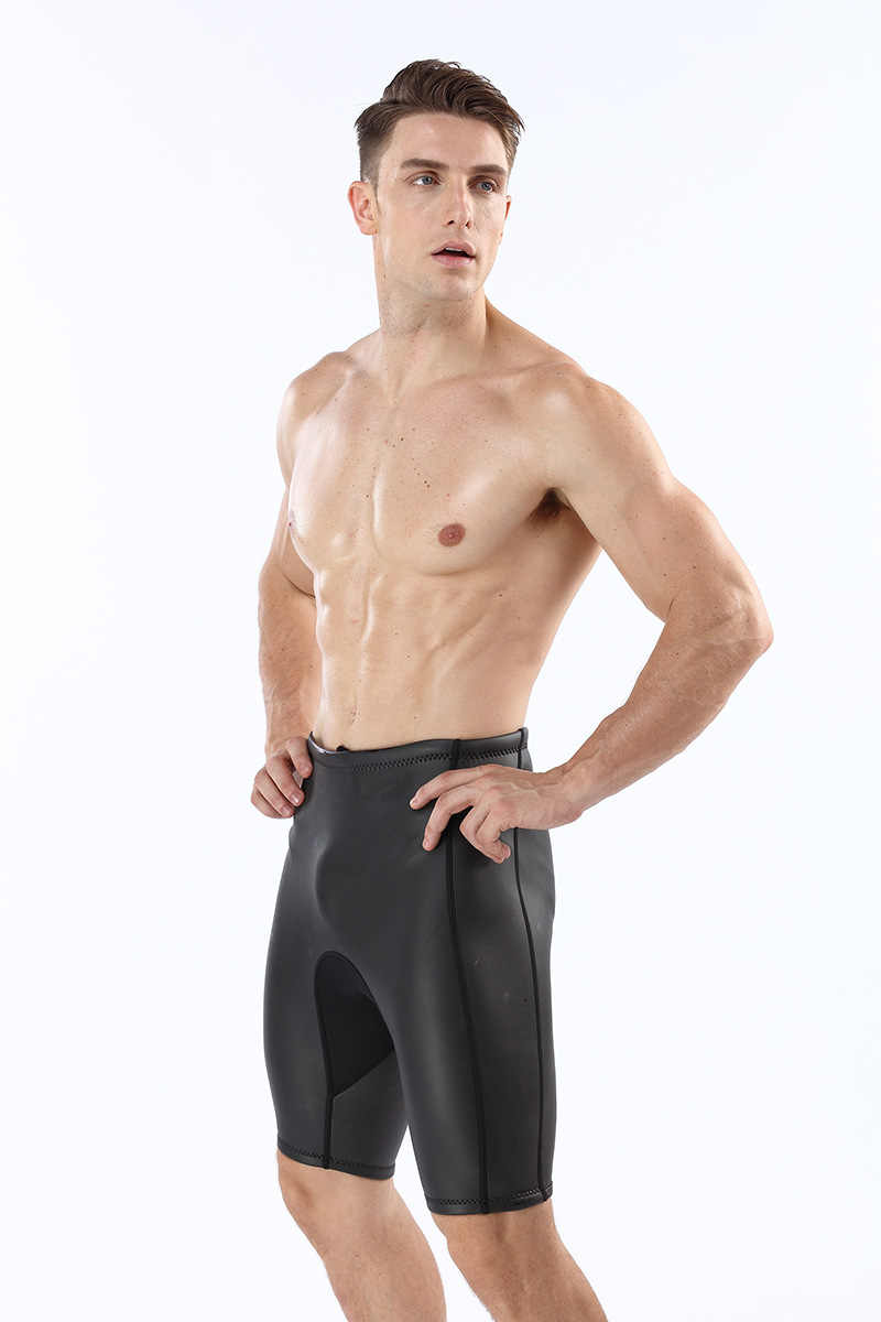 5115f1a5de23f ... 2mm Neoprene Men's Wetsuits Shorts Thick Warm Black Diving Shorts Pants  Snorkeling Winter Swimming Smoothskin Trunks ...