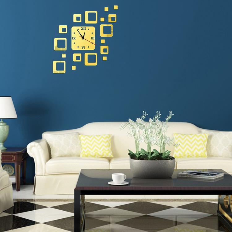 d espejos decorativos cuadrados reloj de pared pegatinas de pared que viven decoracin de la habitacin