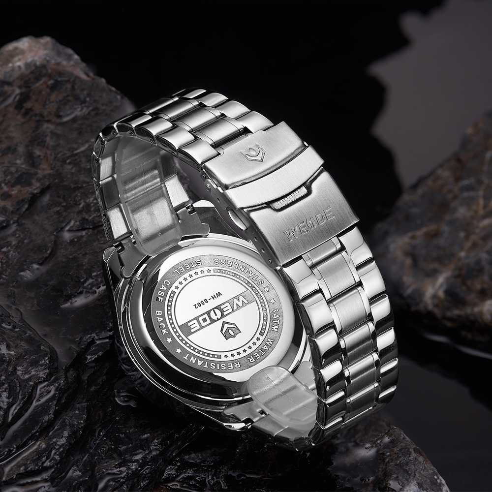 WEIDE Top Luxury Brand Quartz Watches Men LED Digital Clock Man Sports Military Stainless Steel Wrist Watch Relogio masculino 14