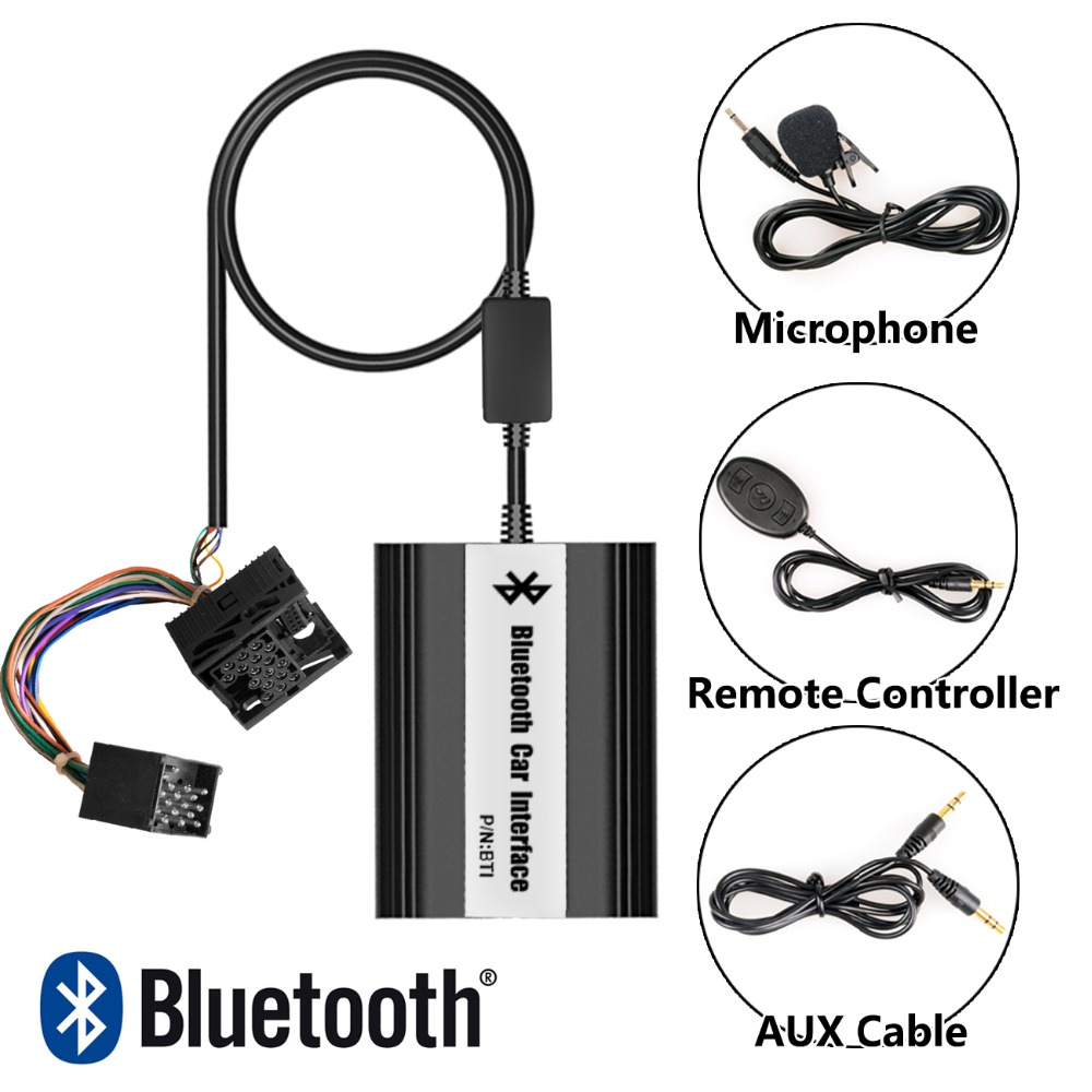 APPS2Car Integrated Hands-Free Car Bluetooth Adapter Wireless USB AUX in Audio Adapter for BMW BMW Compact E46 1994-2006 apps2car hands free bluetooth car kits usb aux in audio adapter for citroen berlingo b9 2005