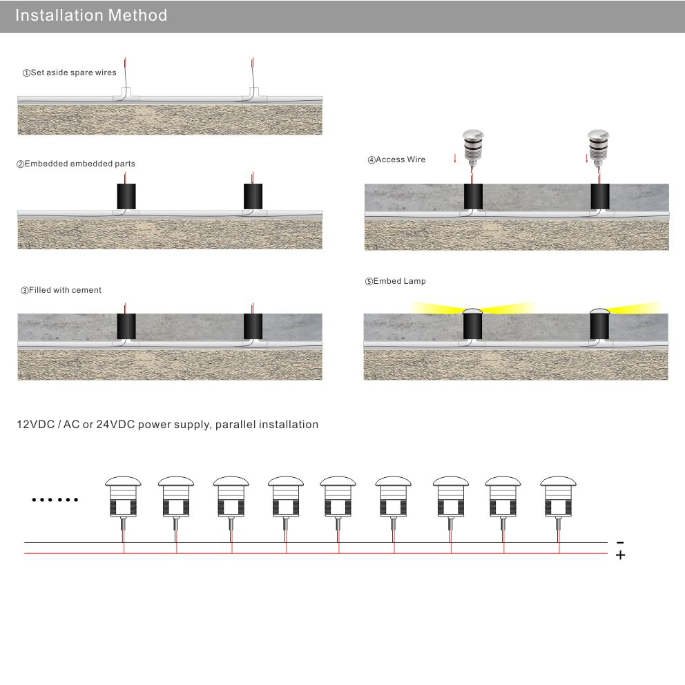 hight resolution of ip67 3w 12v led underground light outdoor landscape lighting recessed spot light kit patio pavers led floor deck stair lamp in underground lamps from lights