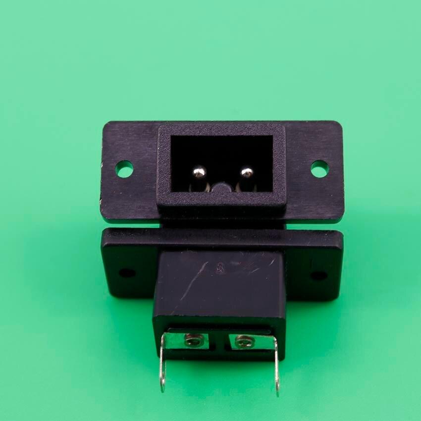 1 Pcs AC 250V 2.5A 2P IEC60320 C12 Male Plug Power Inlet Socket Connector Black