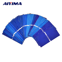 AIYIMA 100pcs 0.12W 0.5V 0.24A 3919 39*19mm Polycrystalline Silicon Solar Panel Solar Cell DIY Charger Battery