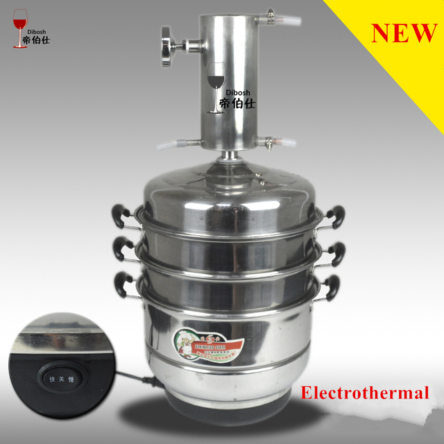 US $228 16 8% OFF|10L Home Distilling Column Electrothermal Stainless Steel  ALCOHOL Moonshine Hooch Vodka Whisky Brandy Distiller Water Juice Etc-in