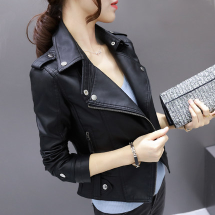 Women Genuine Leather Jacket Real Sheepskin Lambskin Black Short Female Coat Spring Autumn Plus Size 3XL